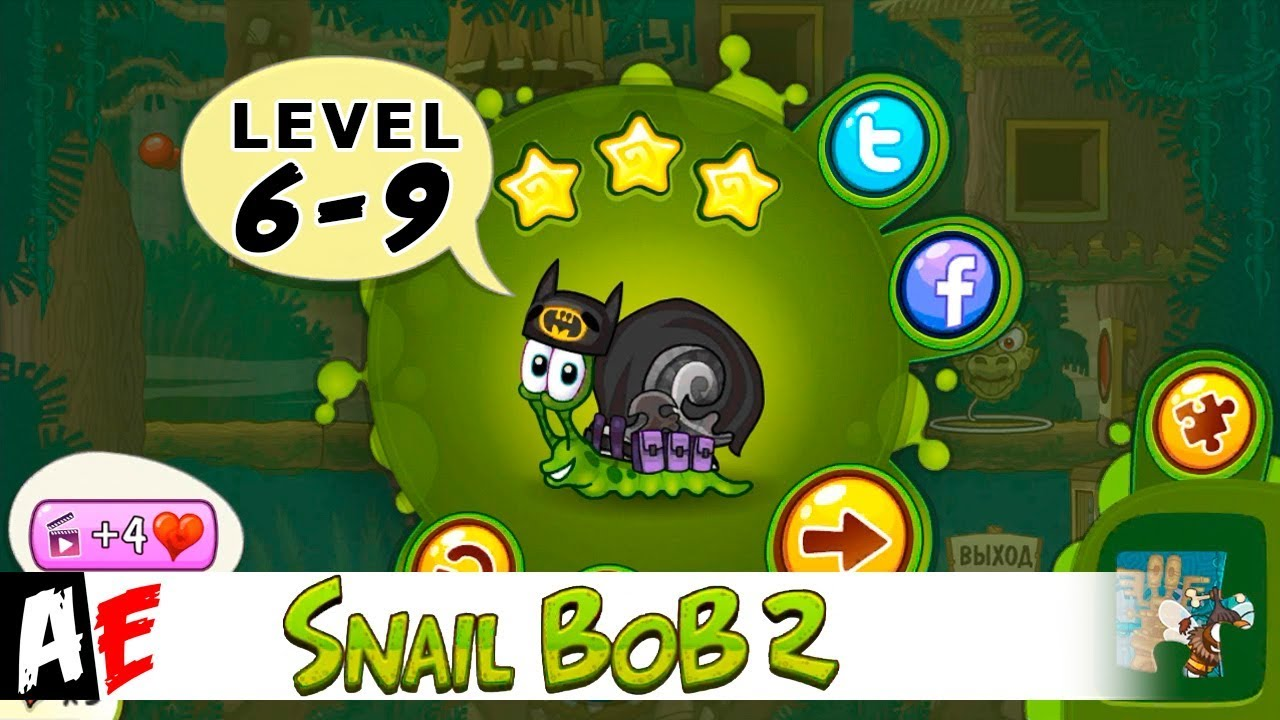 Snail Bob 2 Level 6 9 островная история