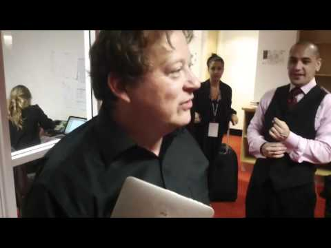 Andrew Marriner backstage at the YouTube Symphony (with Nina Perlove and Sarah Willis)