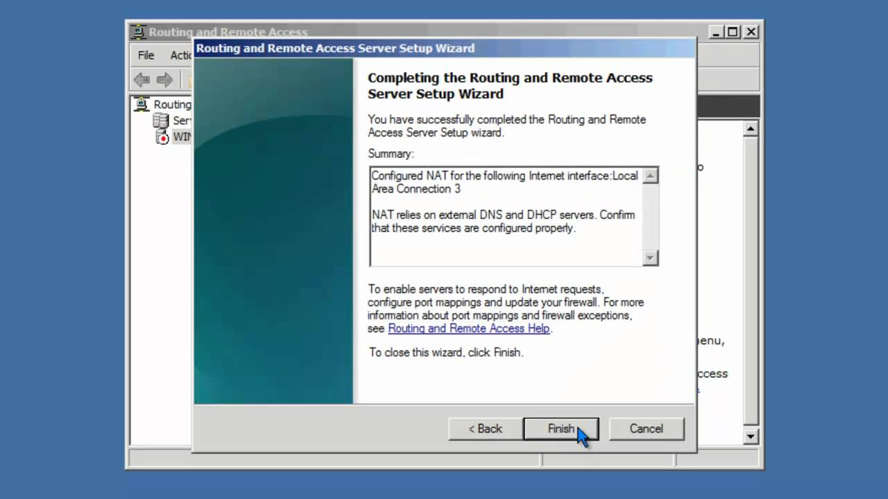 How to Enable NAT on Windows Server 2008 R2