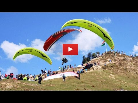 Paragliding in Bir Billing Himachal Pradesh take off to landing full video-HD