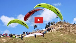 Paragliding in Bir Billing Himachal Pradesh take off to landing full video-HD