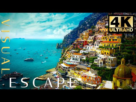 Amalfi Coast - Italy | Drone FlyBy in 4k - A Visual Escape With Relaxing Music