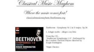 Beethoven Symphony 2 Op 36 Adagio molto - Allegro con Brio