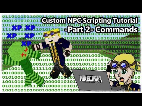 How To Script Custom NPCs (1 7 10) =Part 2= Commands - YouTube