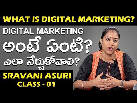 Digital Marketing Class - 01 || Introduction || Class By SRAVANI ASURI