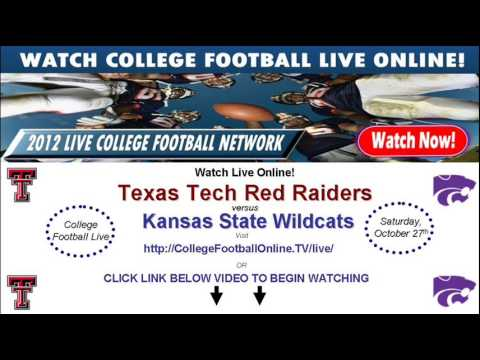Watch Kansas State Online vs Texas Tech Streaming October 27th