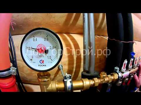 Опрессовка труб и проверка системы водяного теплого пола
