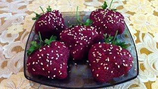 """Праздничная Закуска """"Клубничка с Селёдкой"""" (Очень Вкусно) / Snack Strawberry With Herring"""
