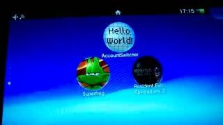 Account Switcher on PS Vita