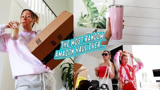 the most random amazon haul + surprising my roommates!!