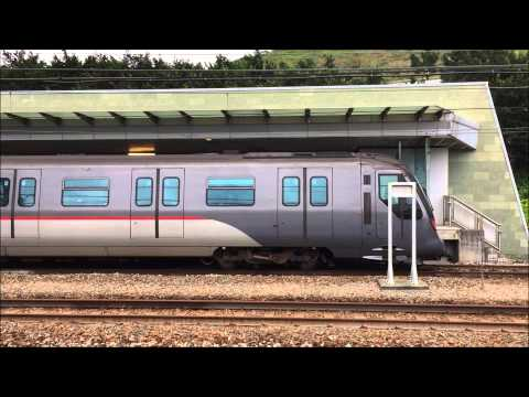 Mass Transit Railway HD 60 FPS: Tung Chung Line & Airport Express Line A-Stock Trains @ Sunny Bay