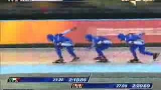 GOLD Teampursuit Italian speedskaters Torino 2006