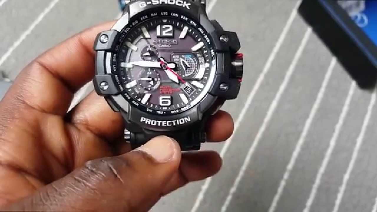 05ff60d683db Casio G-Shock GPW-1000-1AER Aviation watch - YouTube