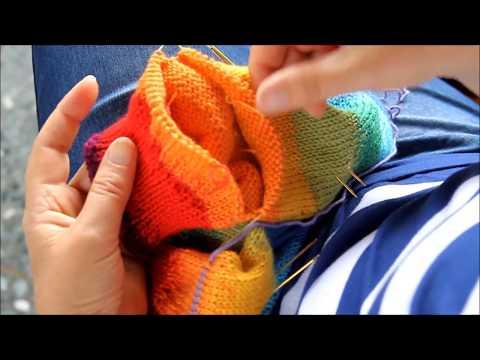 Youtube-Tutorial: Filzsocken Teil 3 * 2 Socken auf einmal * von Spitze * magischer Maschenanschlag * türkische Ferse