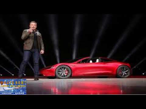 New $200,000 Tesla Roadster speeds in front of electric big-rig truck