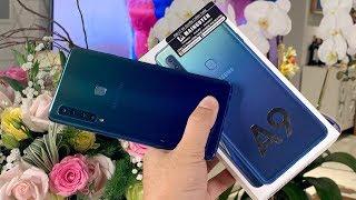 Khui hộp nhanh Samsung Galaxy A9 2018 chính hãng với 4 camera sau và 1 camera trước