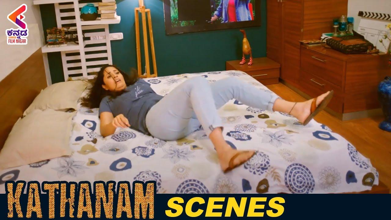 Download Goons Try To Finish Anasuya   Kathanam Kannada Dubbed Movie   Anasuya Bharadwaj   Vennela Kishore