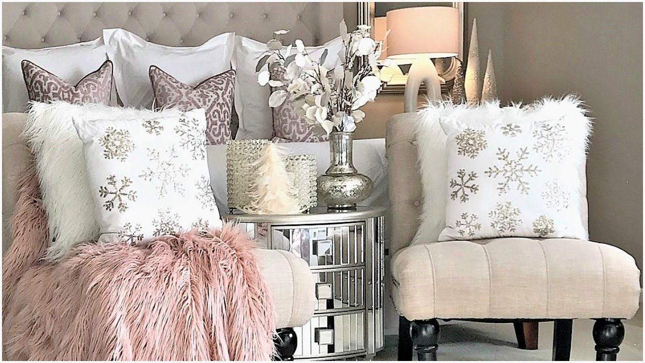 NEW! Luxury Master Bedroom Blush Pink Christmas Tour & Decor Ideas ...