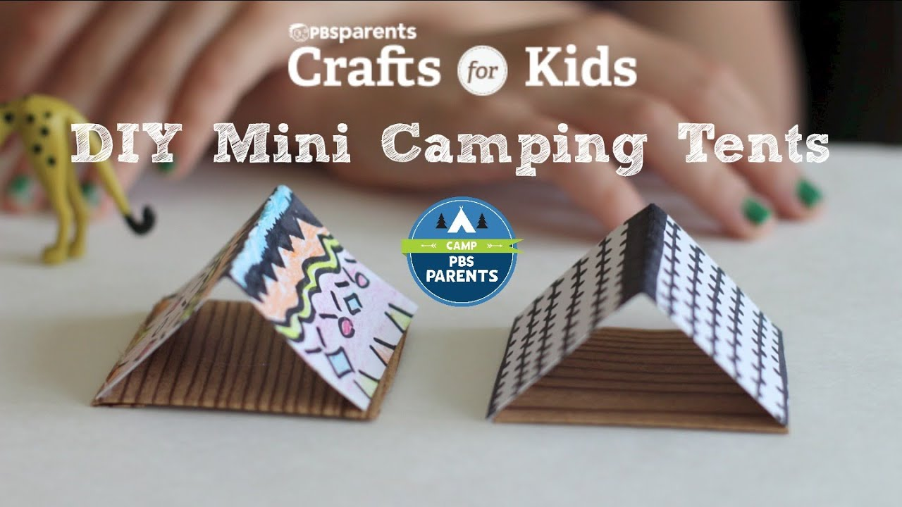 DIY Mini Tents | Crafts for Kids | PBS Parents & DIY Mini Tents | Crafts for Kids | PBS Parents - YouTube
