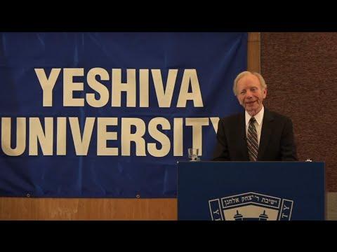 Senator Joseph Lieberman's inaugural lecture Judaism and Public Service