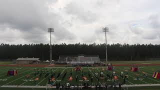 The Slidell High School Marching Tiger Band Performing Mirage at the Lakeshore Festival