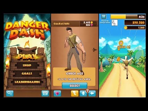 Danger Dash Game Play Chuck Ace 300000 Score Sultan Brothers