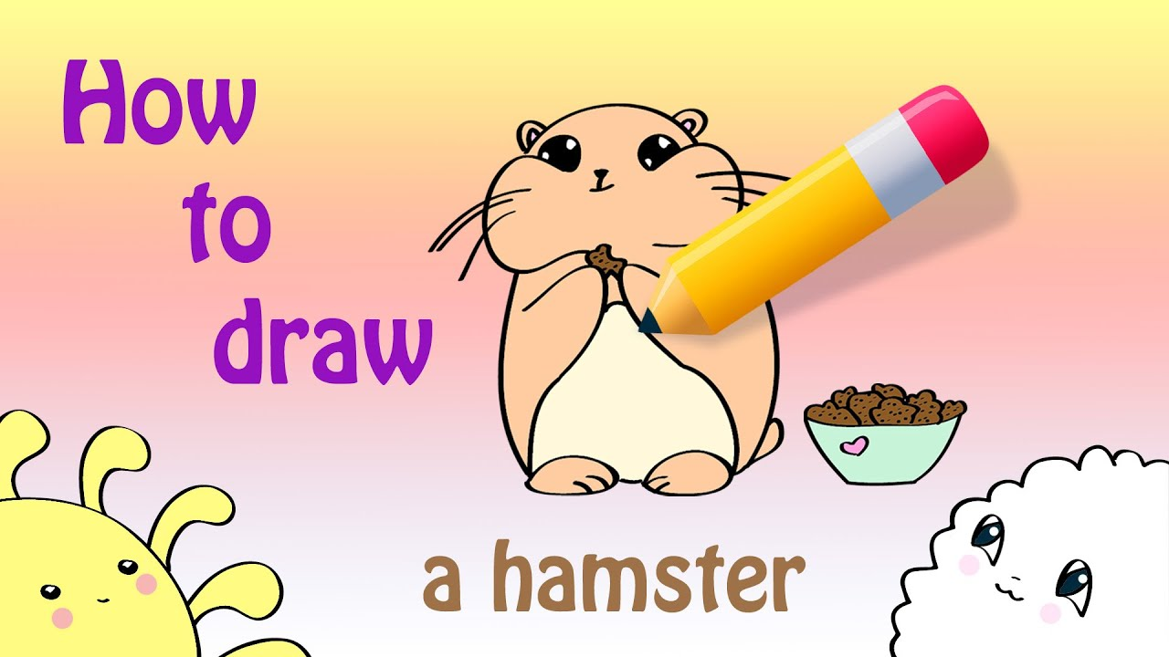 Uncategorized How To Draw A Cute Hamster how to draw a cute hamster youtube hamster