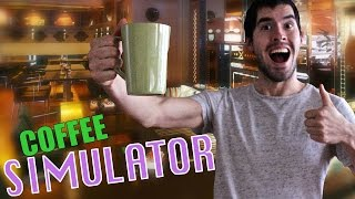 APRENDIENDO A TOMAR CAFE | Coffee Simulator - JuegaGerman