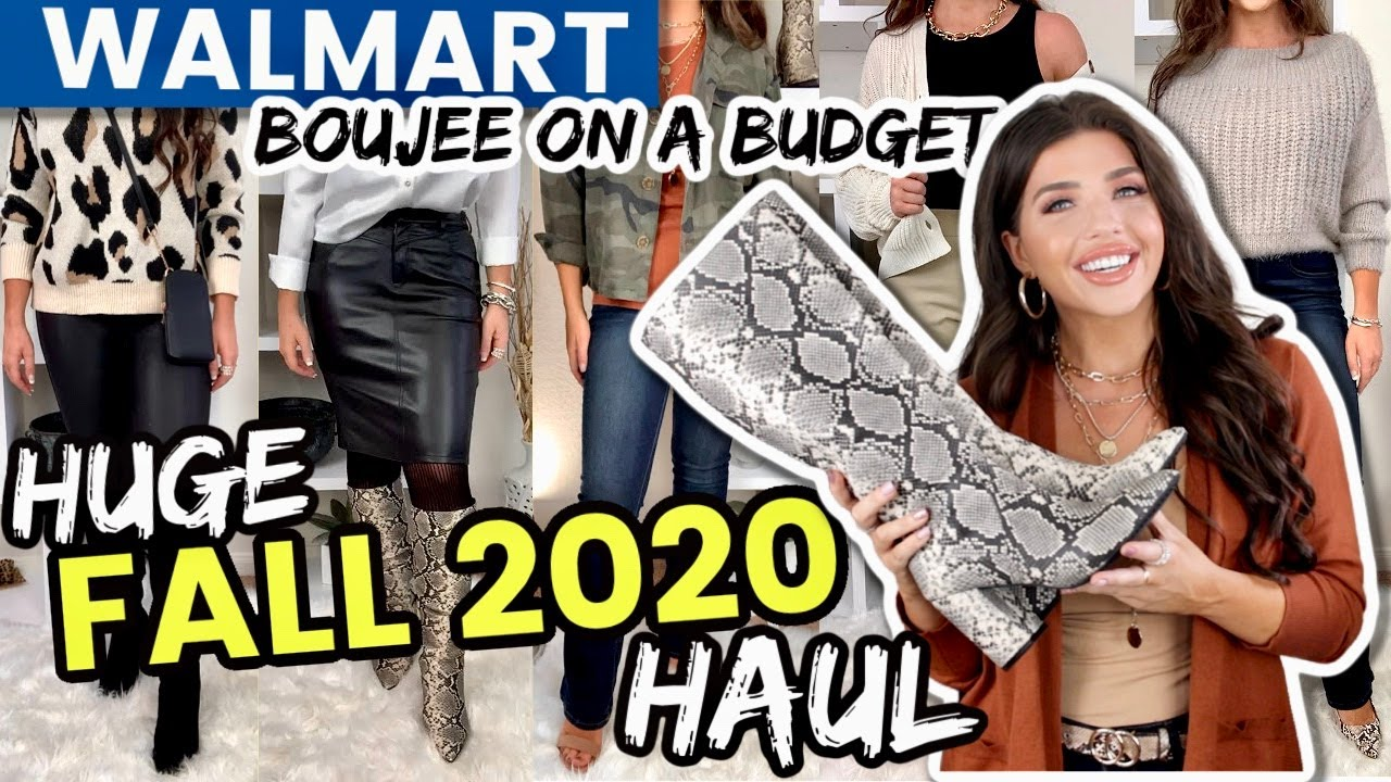 WALMART HAUL   *HUGE* Walmart Clothing Haul FALL 2020   Affordable Fashion #WalmartHaul #Walmart