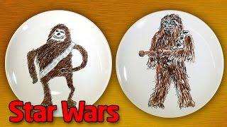 Как нарисовать Чубака или Чуи (Chewbacca). Star Wars на тарелке.
