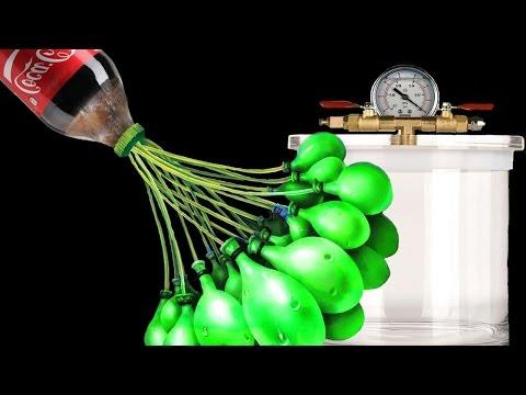 EXPERIMENT - Was passiert mit Coca Cola in Ballon unter Vakuum