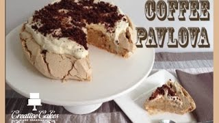 Coffee Pavlova Dessert (How to make)