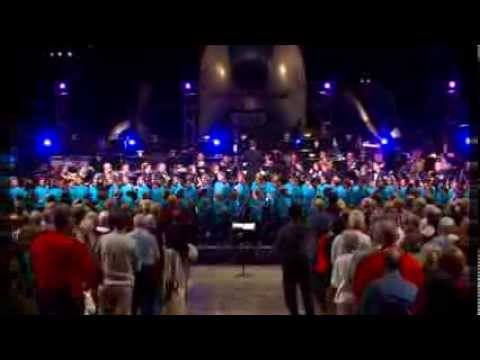 U.S. Armed Services Medley, America the Beautiful, and Sousa with 100+ Children!