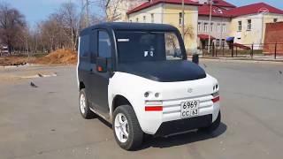 Российский Электромобиль Зетта с мотор-колесом Дуюнова обзор