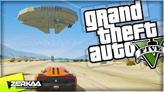 HUGE MILLENNIUM FALCON | GTA 5 Funny Moments | E623 (GTA 5 PS4)