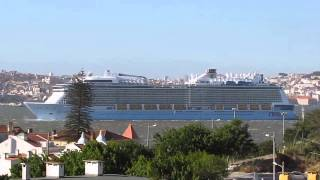 The MS Anthem of The Seas obscures Lisbon