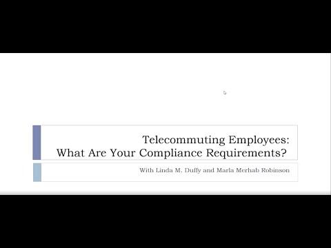 Webinar: Telecommuting Employees