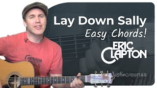 Lay Down Sally - Eric Clapton (Super easy beginners song guitar lesson BS-209) how to play