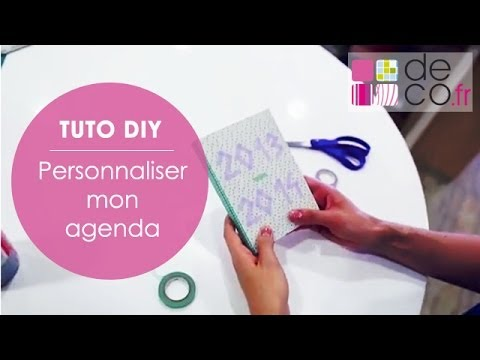 personnaliser un agenda tuto diy youtube. Black Bedroom Furniture Sets. Home Design Ideas
