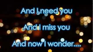 """A Thousand Miles"" by Vanessa Carlton - Lyrics on Screen"