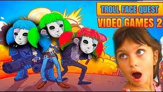 САЛЛИ ФЕЙС поймала НАС в ТРОЛЛФЕЙС! SALLY FACE и ПРИВЕТ СОСЕД TrollFace Video Games 2 Валеришка kids