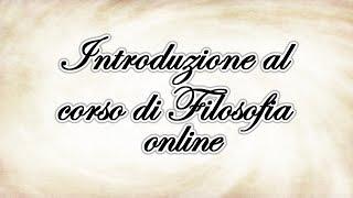 Da dove leggere la Filosofia? - Introduzione al corso online