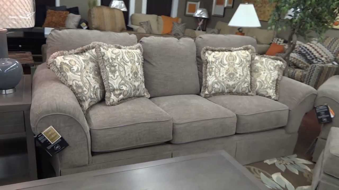 Large Leather Chair With Ottoman Swing Rona Ashley Furniture Sonnenora Sofa 388 Review Youtube