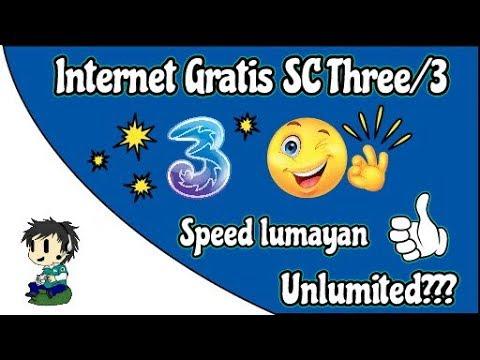 Internet Gratis THREE/3 Speed Lumayan [Unlimited???]