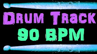 Aged Classic Rock Drum Beat 90 BPM Bass Guitar Practice Backing Drum Track #317