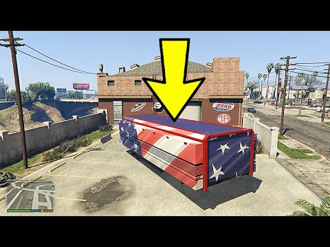 GTA ONLINE GUNRUNNING DLC NEW HIDDEN MOC PAINTING - 2017 Independence Day DLC Content!!! (GTA 5)