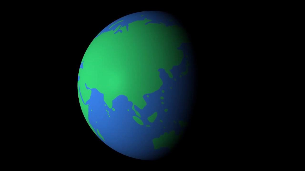 After Effect Short Tut 1 - Làm trái đất quay tròn