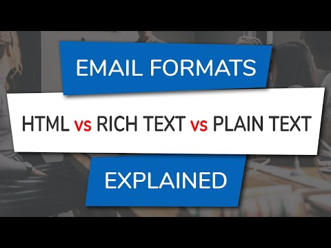 HTML Vs Rich Text Vs Plain Text Email Formats