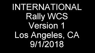 2018 Int'l Rally West Coast Swing/Los Angeles