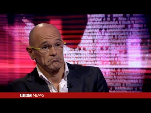 K.O. súbito: un entrevistador de la BBC tumba a Romeva en 2 minutos